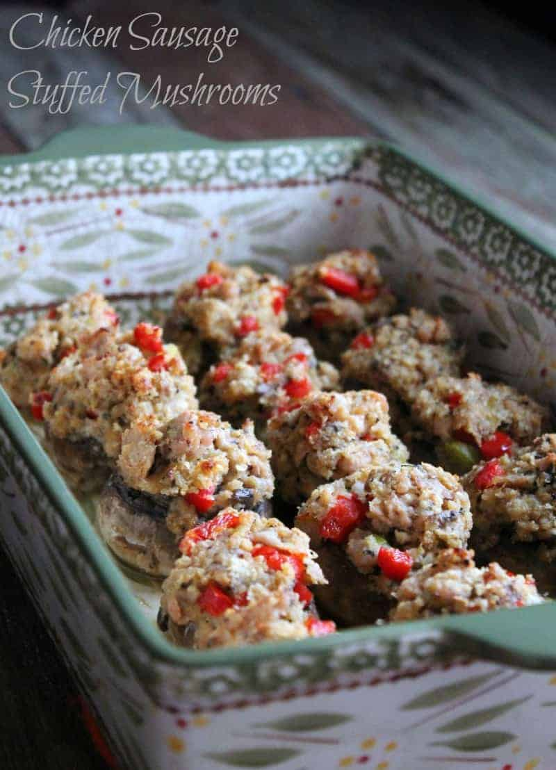 Chicken sausage stuffed mushrooms 111 calories and 3 weight watchers points plus for 3 mushrooms