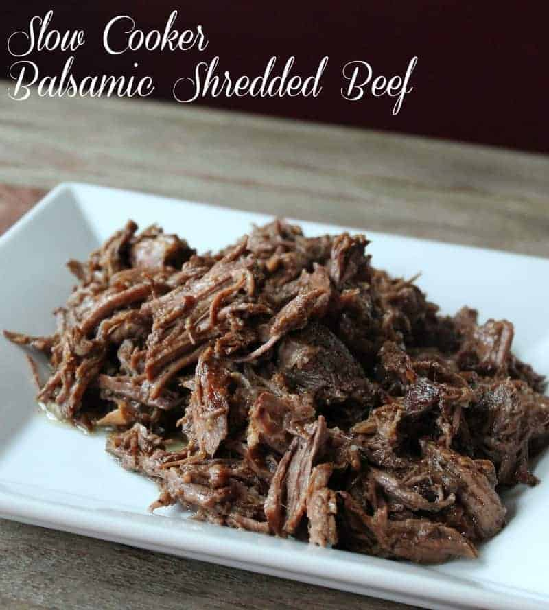 Slow Cooker Balsamic Shredded Beef Recipe 328 calories 8 weight watchers points plus