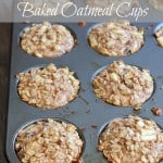 Apple Spice Baked Oatmeal Cups 188 calories and 5 Weight Watchers Points + #weightwatchers