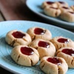Peanut Butter and Jelly Thumbprint Cookies #intheraw @Intherawbrand