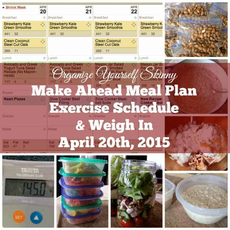 20 Make Ahead Camping Recipes For Easy Meal Planning: Make Ahead Meal Plan, Exercise Schedule, And Weigh In