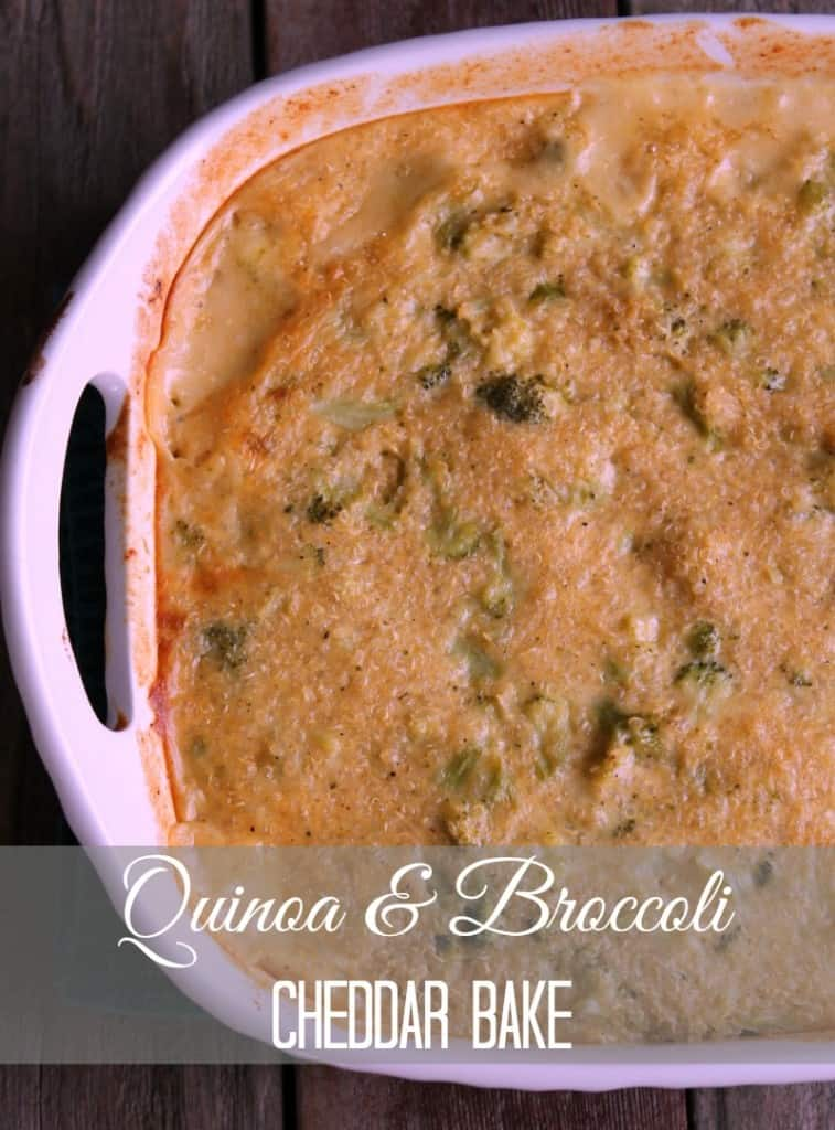 Quinoa and Broccoli Cheddar Casserole Bake 251 calories and 7 weight watchers points plus