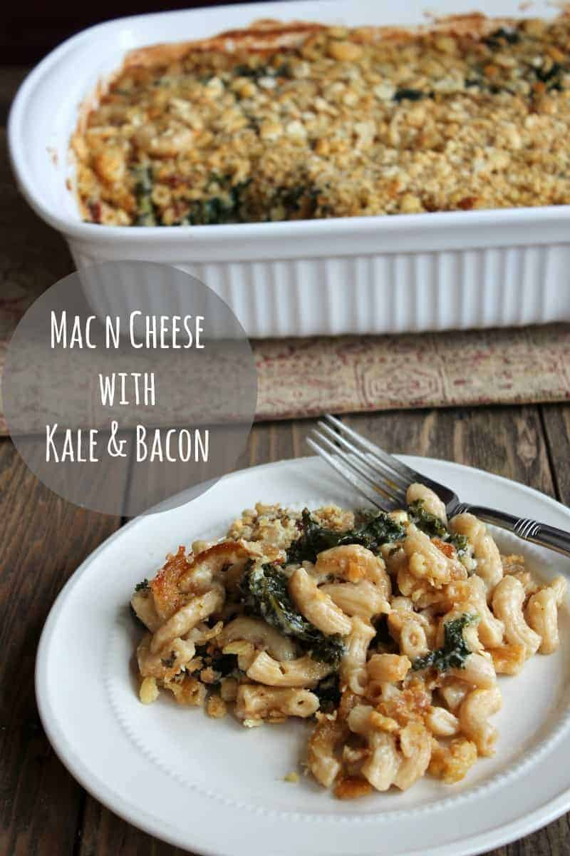 Mac n Cheese with Kale & Bacon #ChoppedAtHome @SargentoCheese