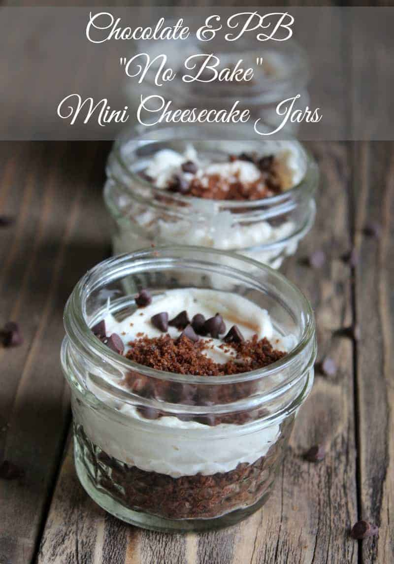 "Chocolate & Peanut Butter ""no bake"" Cheesecake Jars 274 calories and 7 weight watchers points"
