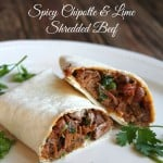 Slow Cooker Spicy Chipotle and Lime Shredded Beef