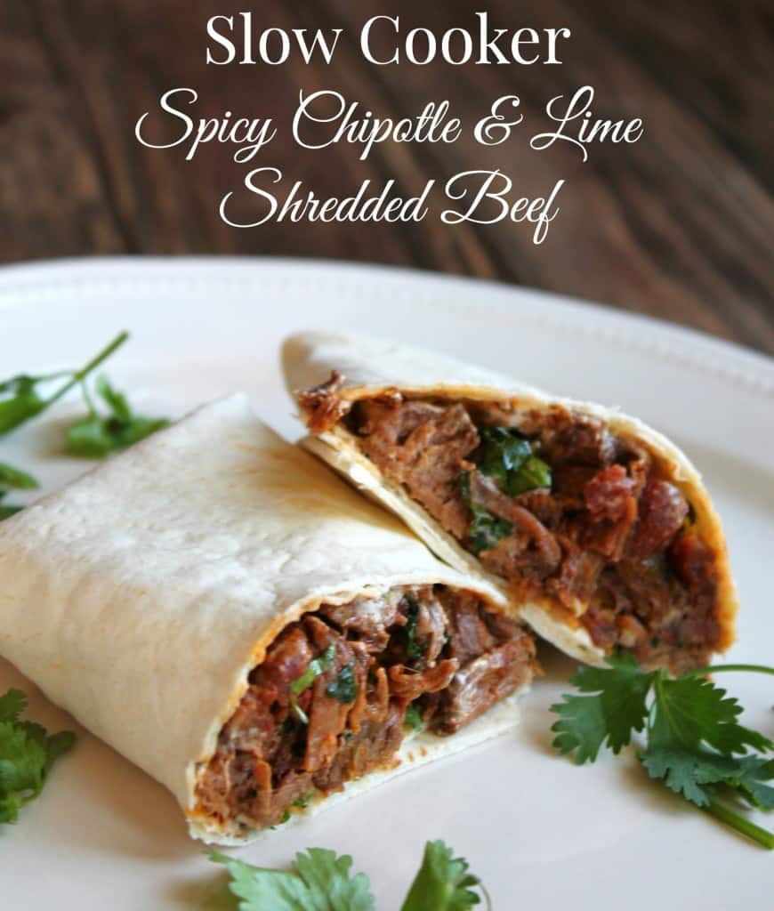 Slow Cooker Spicy Chipotle and Lime Shredded Beef 300 calories and 8 ...