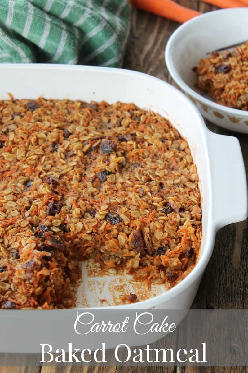 Carrot Cake Baked Oatmeal Recipe 238 calories 6 weight watchers points ...