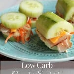 Low Carb Cucumber Sandwiches