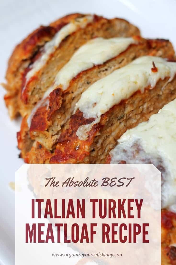 Italian Meatloaf. Turkey meatloaf recipe. Healthy turkey meatloaf recipe. ground turkey recipes