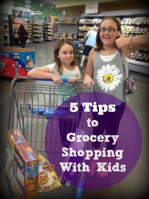 5 Tips to Grocery Shopping with Kids