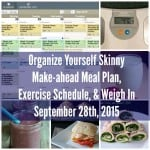 Make-ahead Meal Plan, Exercise Schedule, and Weigh In {September 27th, 2015}