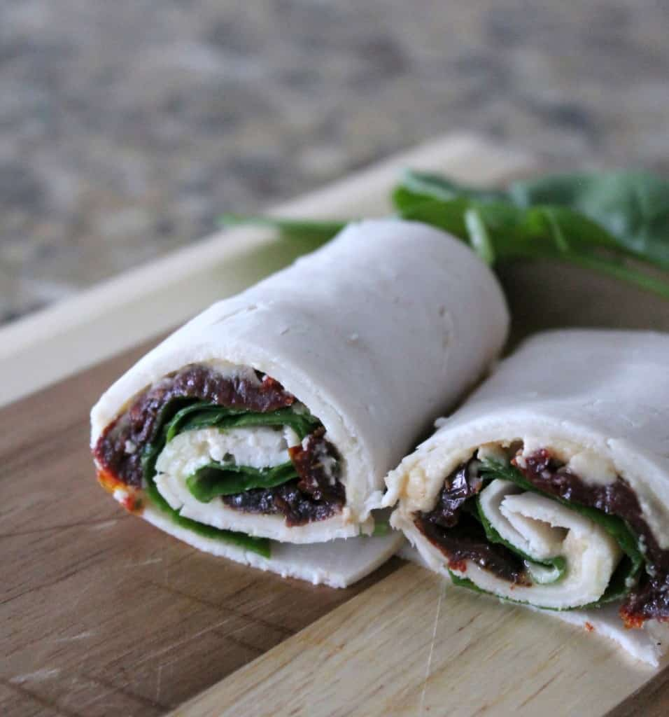 turkey and sundried tomato roll ups