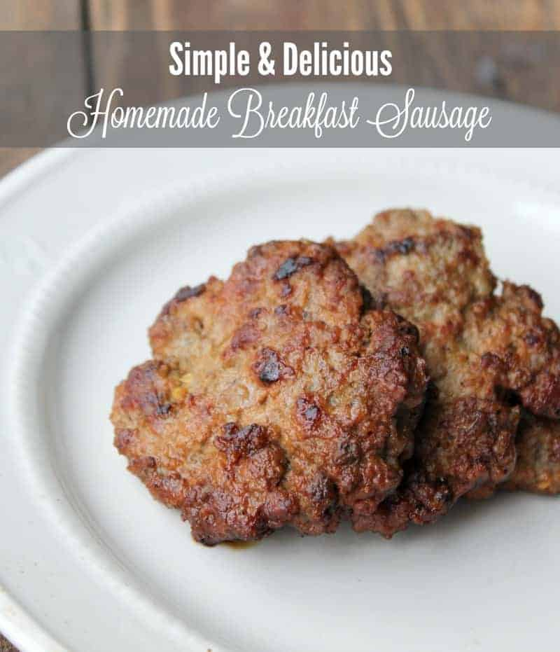 Make-ahead Homemade Breakfast Sausage #VSL3KnowtheDifference