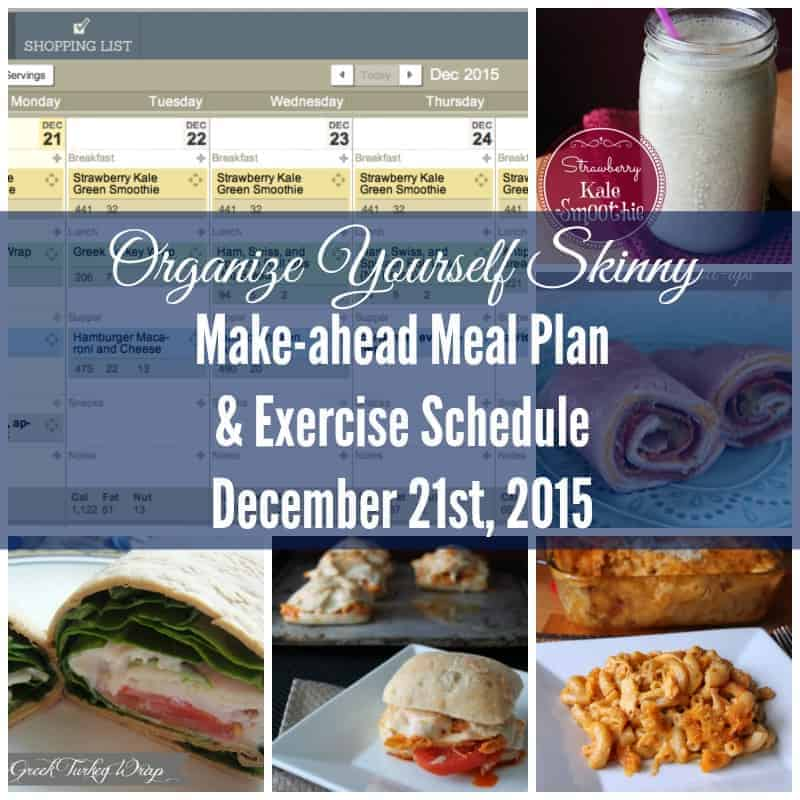 Make-ahead food prep meal plan