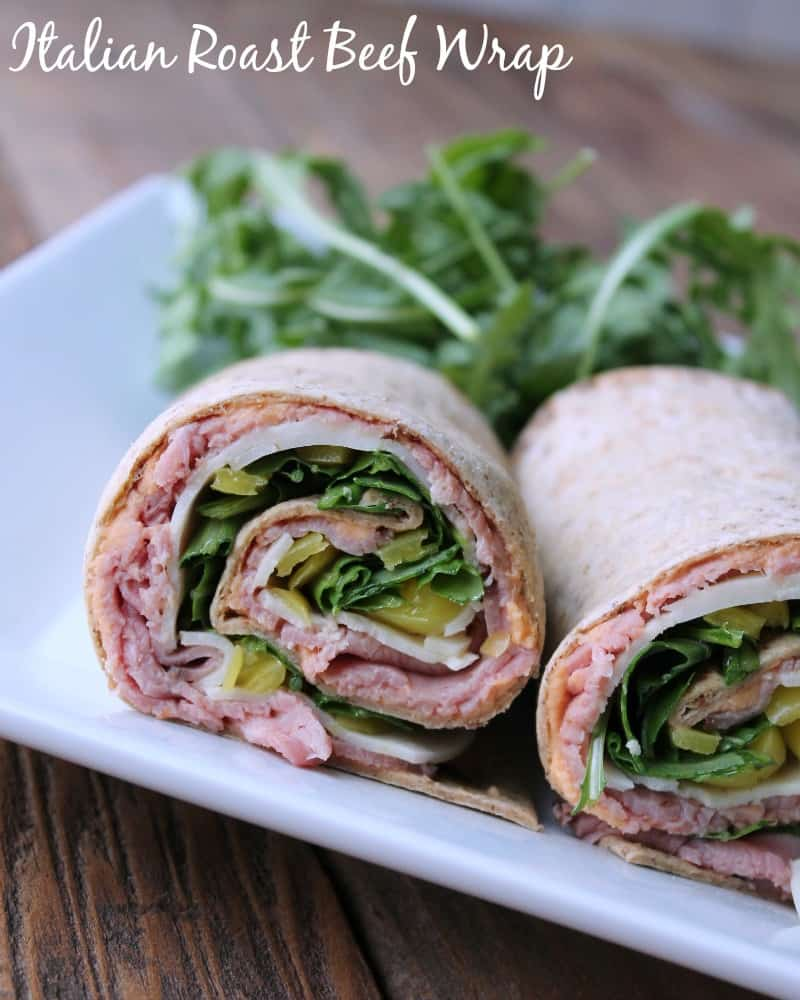 italian roast beef wrap for make ahead lunches