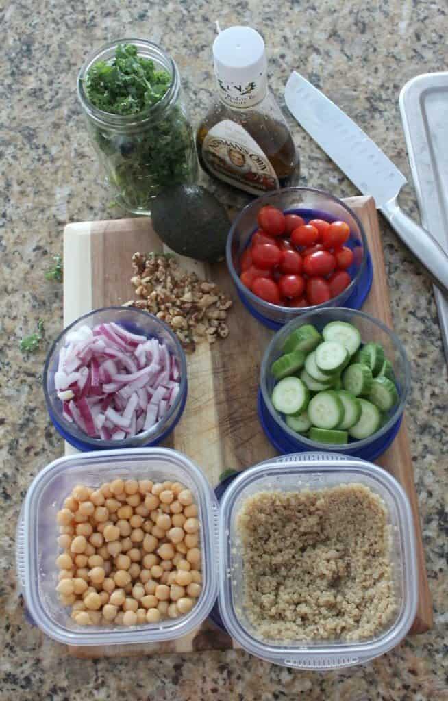 meal prep salad ingredients