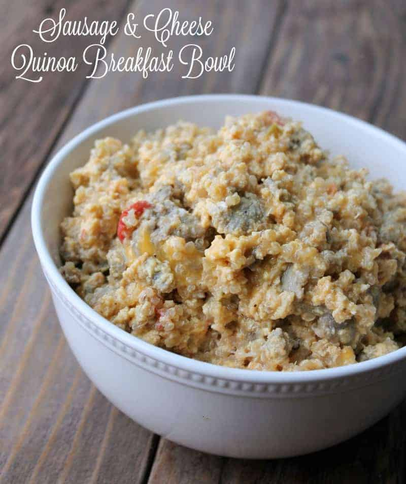 Sausage And Cheese Quinoa Breakfast Bowl