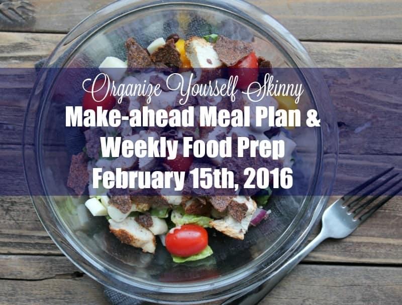 Make-ahead Meal Plan Weekly Food Prep