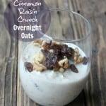Cinnamon Raisin Crunch Overnight Oats