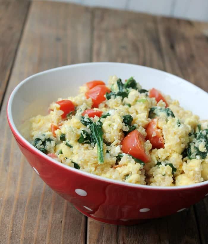 Greek Quinoa Breakfast Bowl - Organize Yourself Skinny
