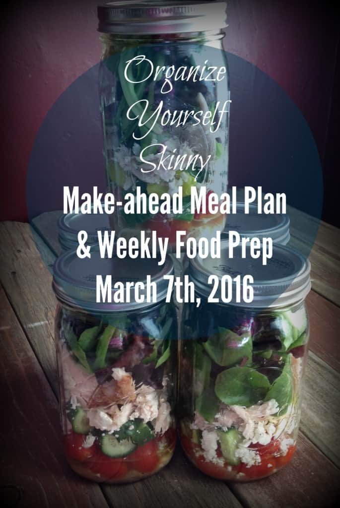 March 7th Meal Plan and Monthly Food Prep
