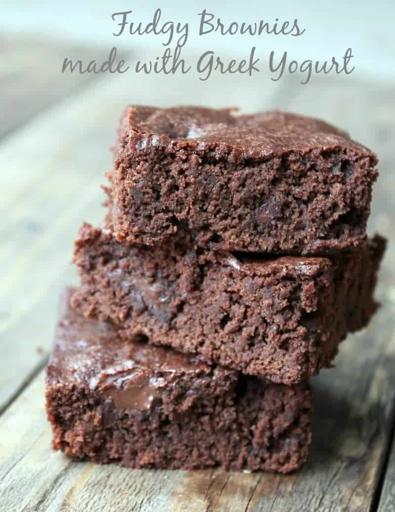 Fudgy Brownies Made With Greek Yogurt