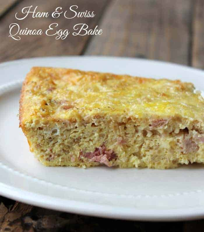 Ham and Swiss Quinoa Egg Bake - Organize Yourself Skinny
