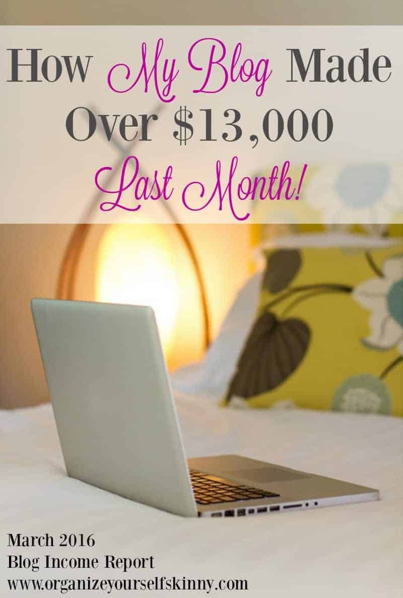 Blog Traffic and Income Report March 2016