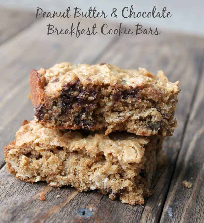 Peanut Butter and Chocolate Breakfast Cookie Bars - Organize Yourself ...