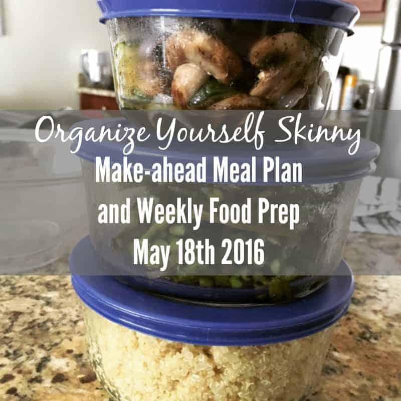 Make-ahead Meal Plan and Weekly Food Prep