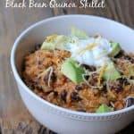 Spicy Southwest Black Bean Quinoa Skillet