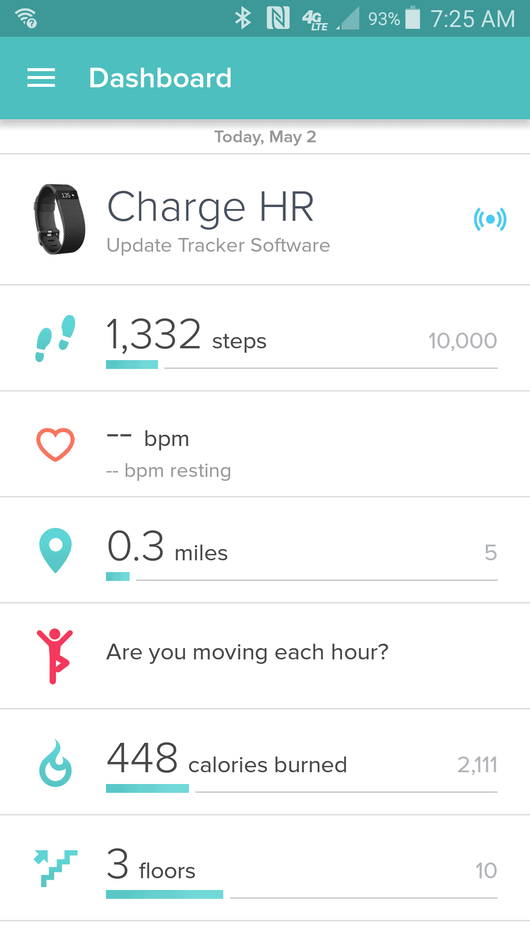 A Day in the Life of My Fitbit
