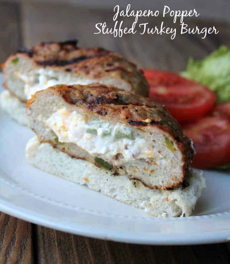 Jalapeño Popper Stuffed Turkey Burger