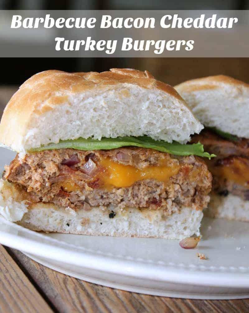 Barbecue Bacon Cheddar Turkey Burgers #JimmyDeanBacon - Organize ...