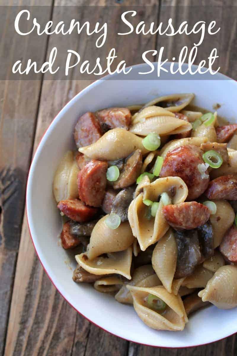 Creamy Sausage and Pasta Skillet