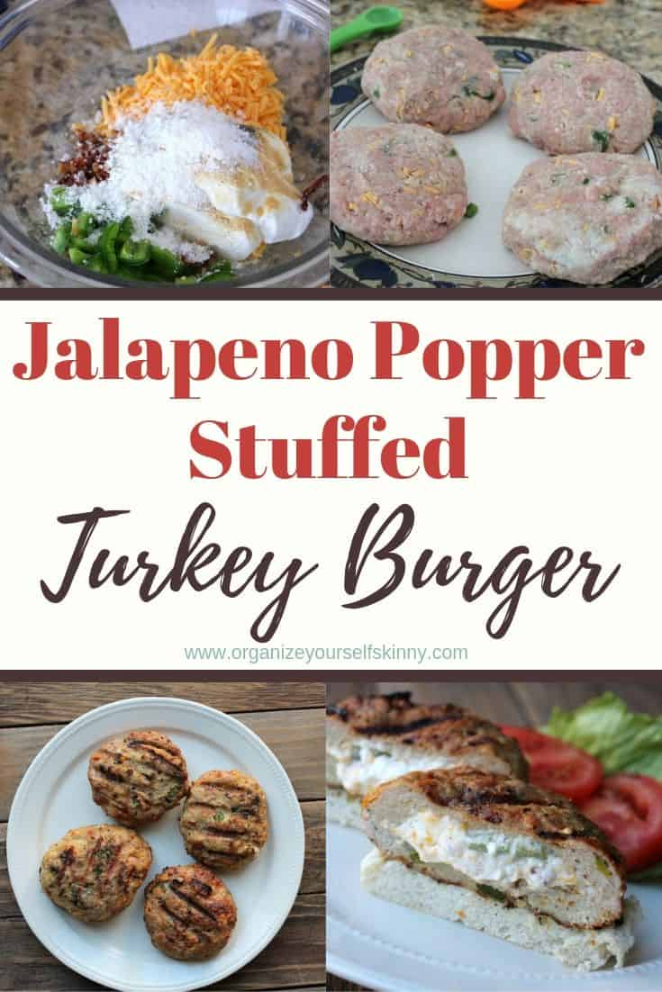 Jalapeno Popper Stuffed Turkey Burger