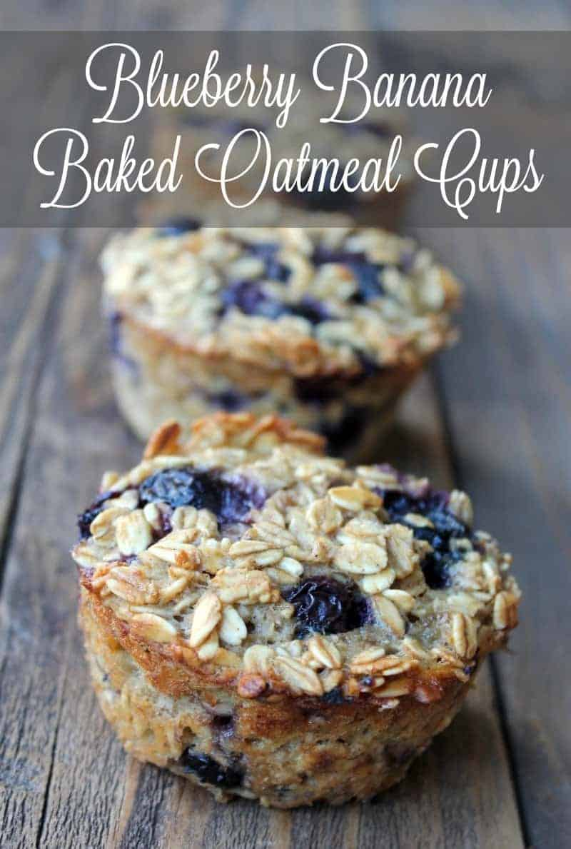 Blueberry Banana Baked Oatmeal Cups Organize Yourself Skinny