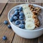 Slow Cooker Blueberry Banana Steel Cut Oatmeal & Quinoa