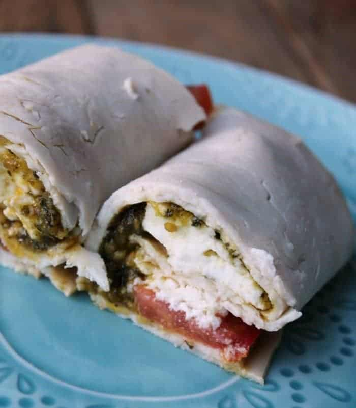"Turkey Caprese ""No Bread"" Roll-Up"