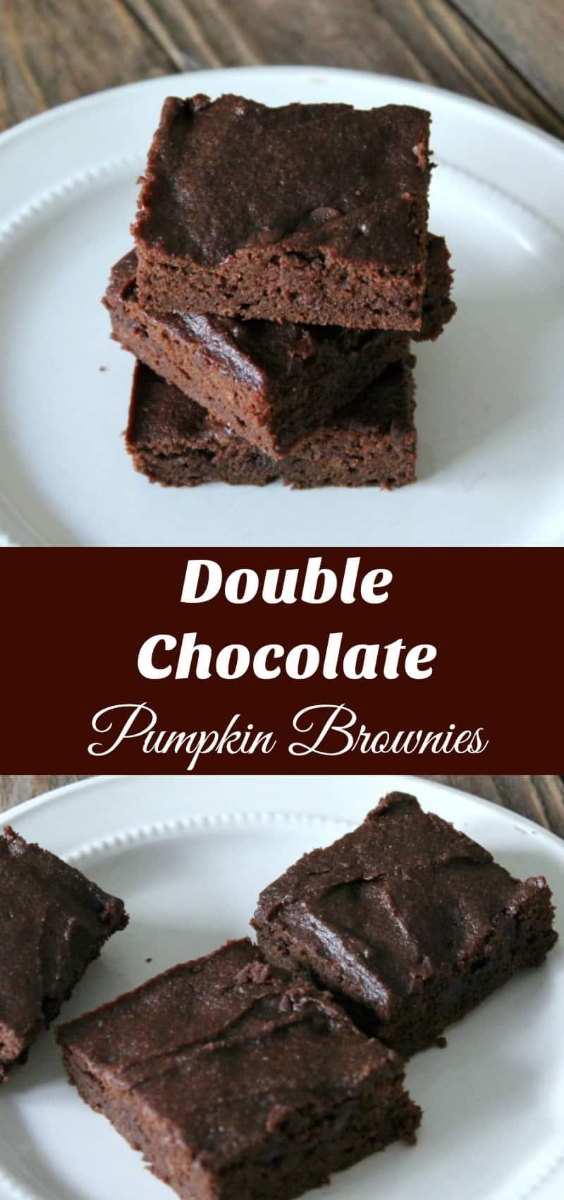 Double Chocolate Pumpkin Brownies