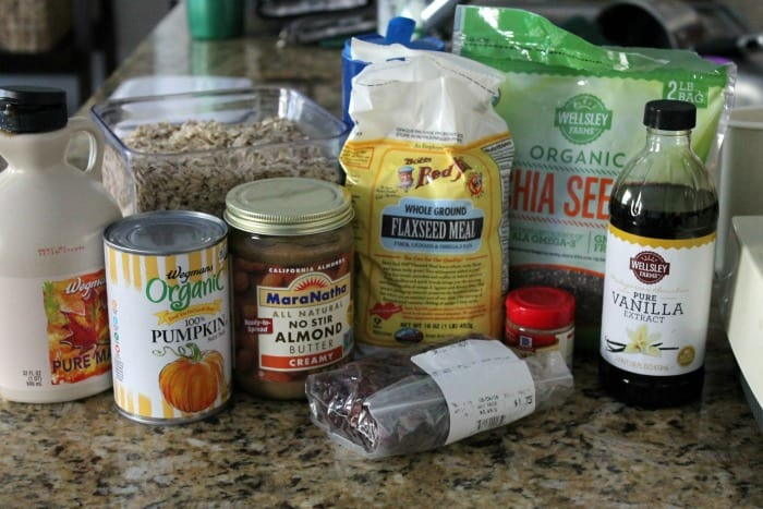 Pumpkin Spice and Cranberry No-bake energy bites