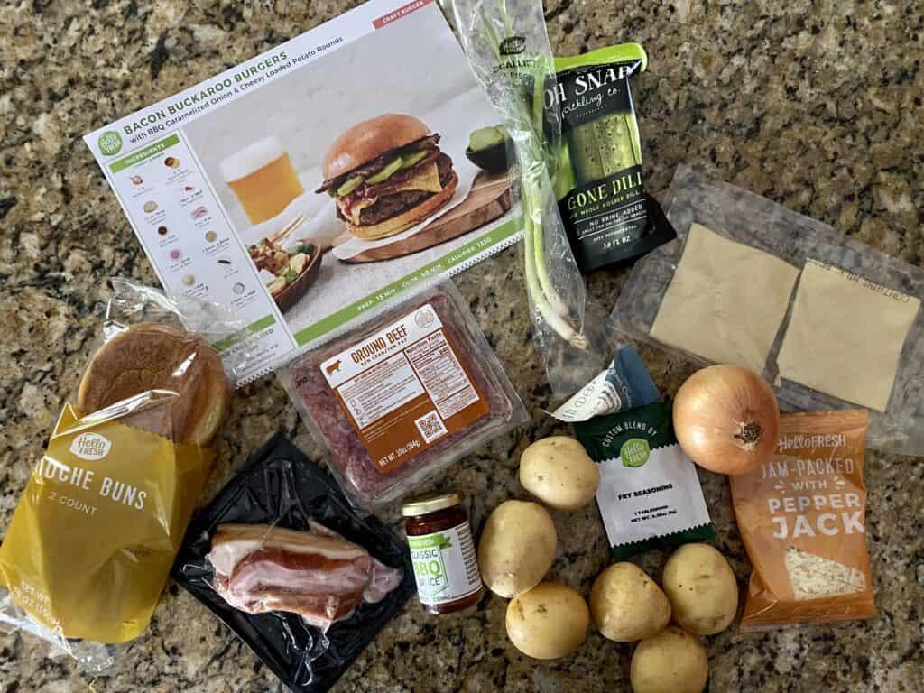 hello fresh burger recipe