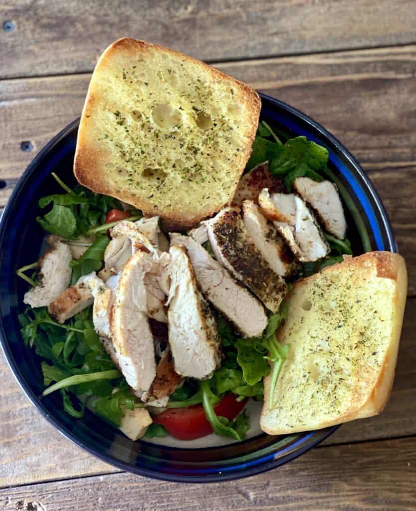 Chicken with Arugula Caprese Salad Hello fresh recipe