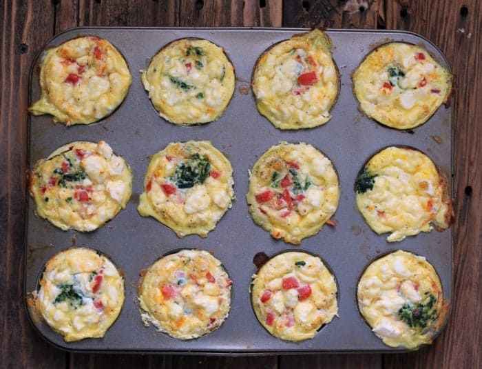 Greek Egg Bake Made in a Muffin Pan