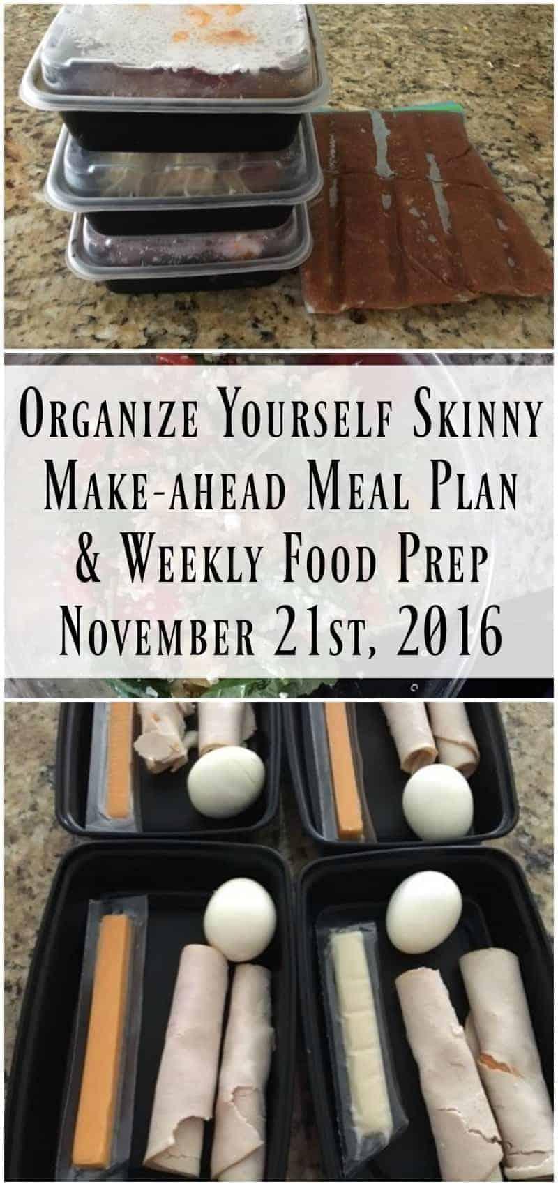Make-ahead Meal Plan and Weekly Food Prep {November 21st, 2016}