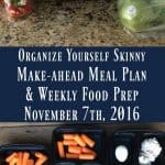 Make-ahead Meal Plan & Weekly Food Prep {November 7th, 2016)