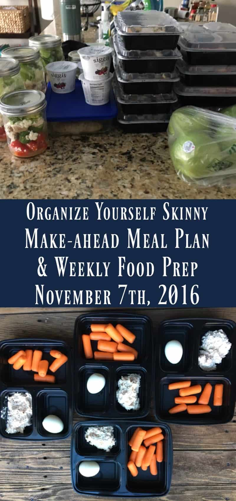 Make-ahead Meal Plan & Weekly Food Prep {November 7th, 2016}