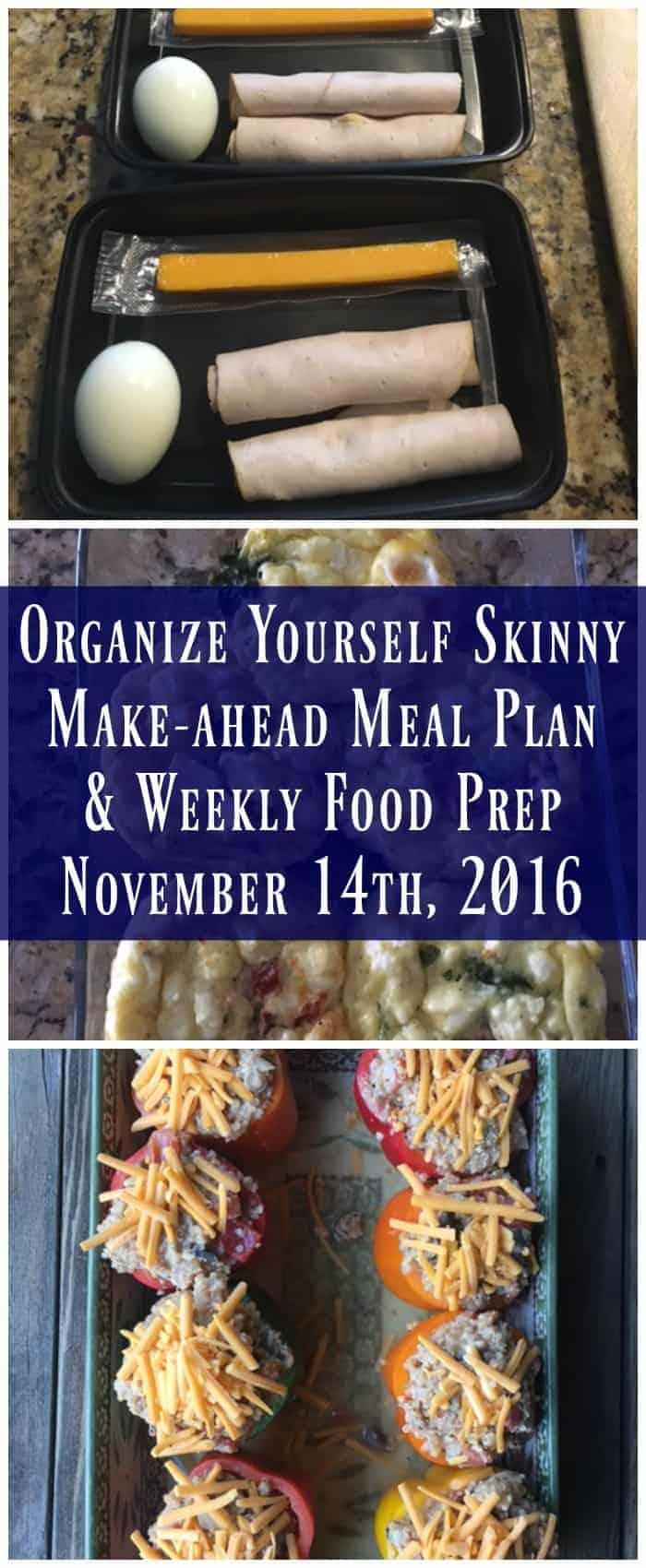 Make-ahead meal plan & weekly food prep for November 14th, 2016