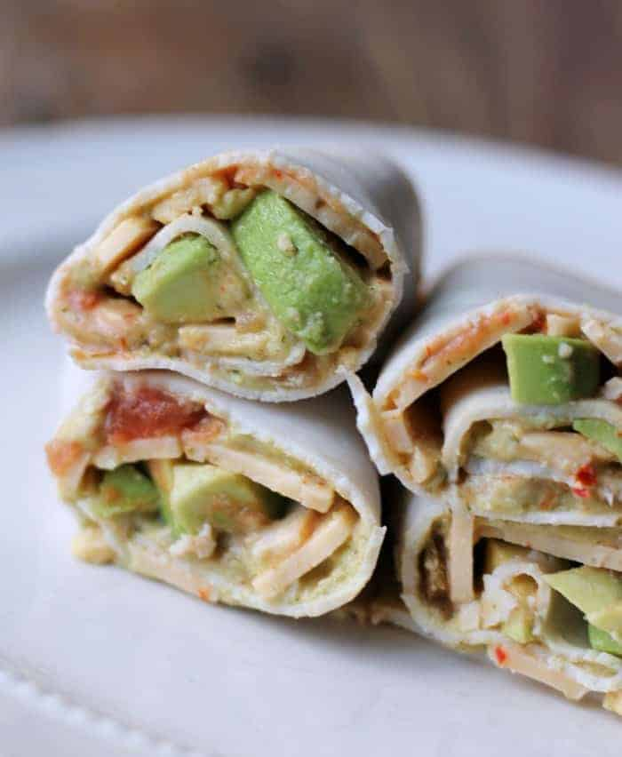 Low-carb Mexican Turkey Roll-up