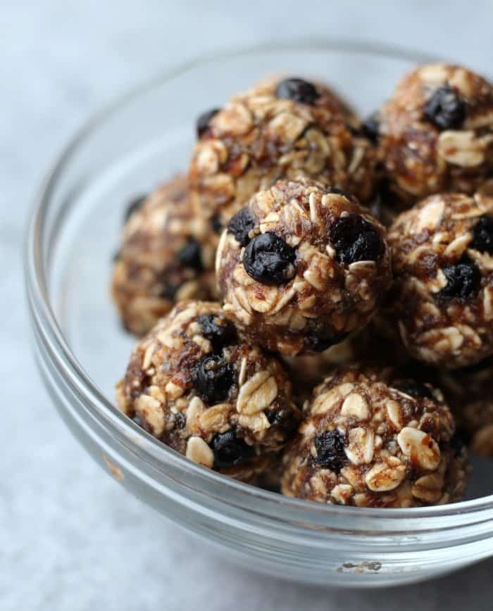 energy balls from the freezer